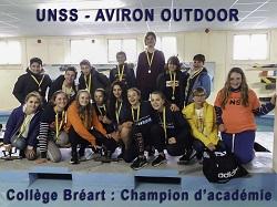 La section sportive du collège Bréart ; championne d'académie 2019