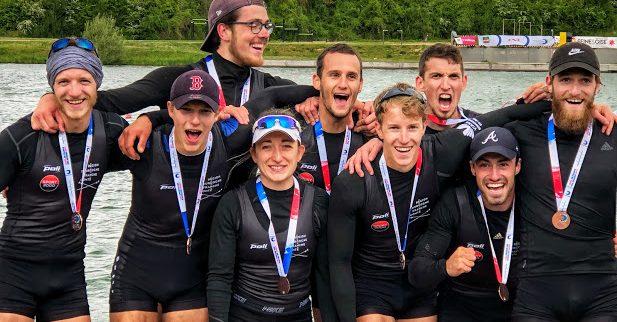 Médaille de Bronze pour le huit sénior de la ligue aviron BFC - Coupe de france Mante la Jolie
